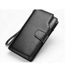 Мужской кошелёк-клатч из кожи PU
