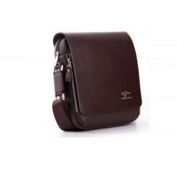 KANGAROO мужская сумка через плечо ( тёмно-коричневая )