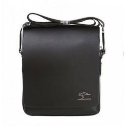 KANGAROO vīriešu soma pāri plecam ( melnā )