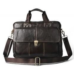 Vīriešu soma-portfelis (dabīga āda )