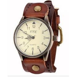 Часы Винтаж, кожа