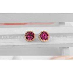ROXI серьги-гвоздики. Тройная позолота 18К и настоящие австрийские кристаллы