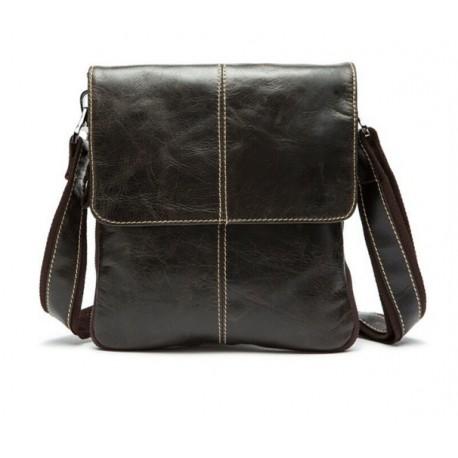 Mужская сумка через плечо ( Oil Wax натуральная кожа )