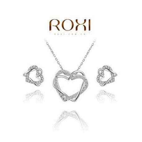 ROXI Комплект покрытие из платины и австрийские кристаллы